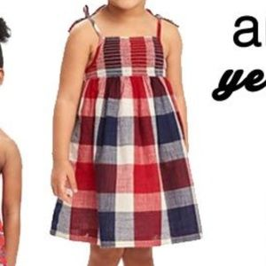 Old navy red white and blue checkered dress